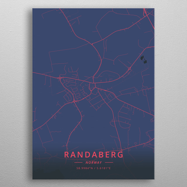 Randaberg, Norway metal poster