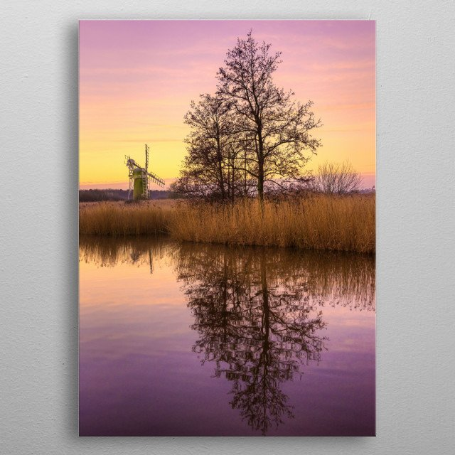 Norfolk Landscape in England metal poster