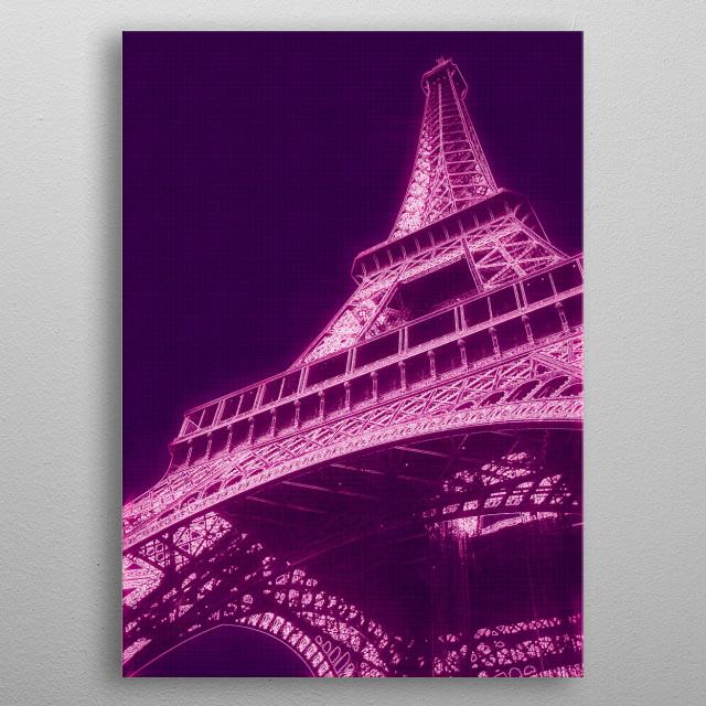 Eiffel Tower metal poster
