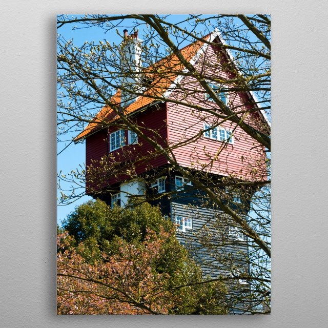 house in the clouds, Suffolk metal poster