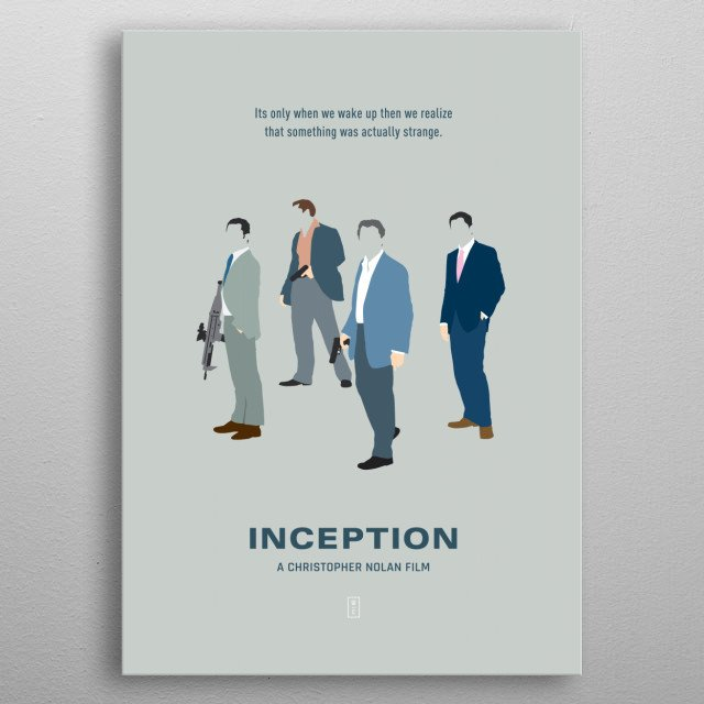Inception - Minimalist Movie Poster metal poster