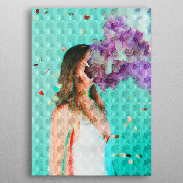This is kind of just a surreal visualization of dissociating.  metal poster