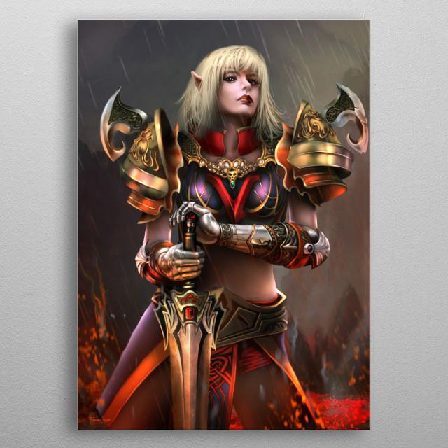 Fantasy character design metal poster