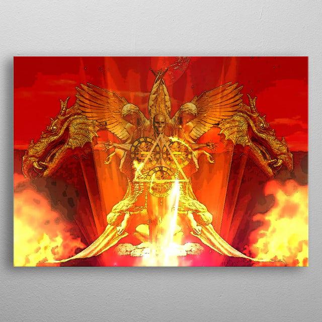 In Flames By Patrick Burke 2019  metal poster