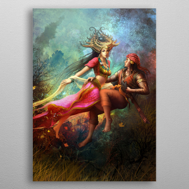 Inspired by the indigenous people in the Philippines.  metal poster