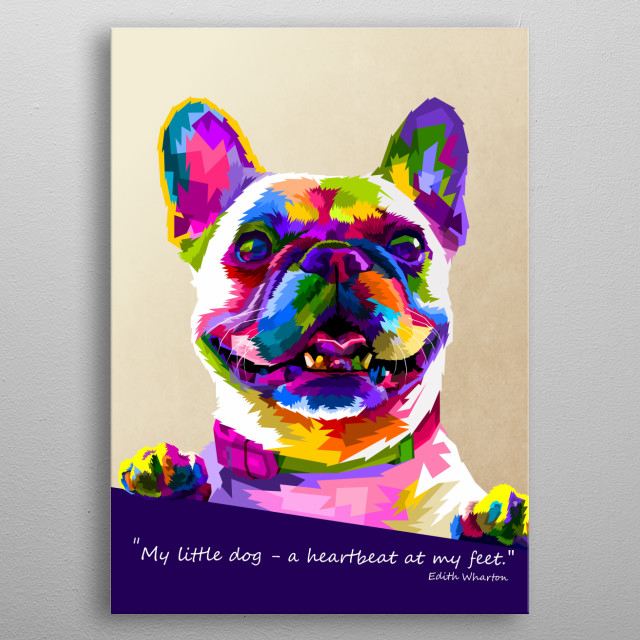 BULLDOG WHITE DOG GREAT LITTLE DOG PRINT MOUNTED READY TO FRAME