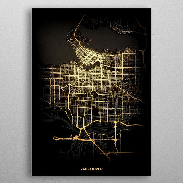 Vancouver, Canada metal poster