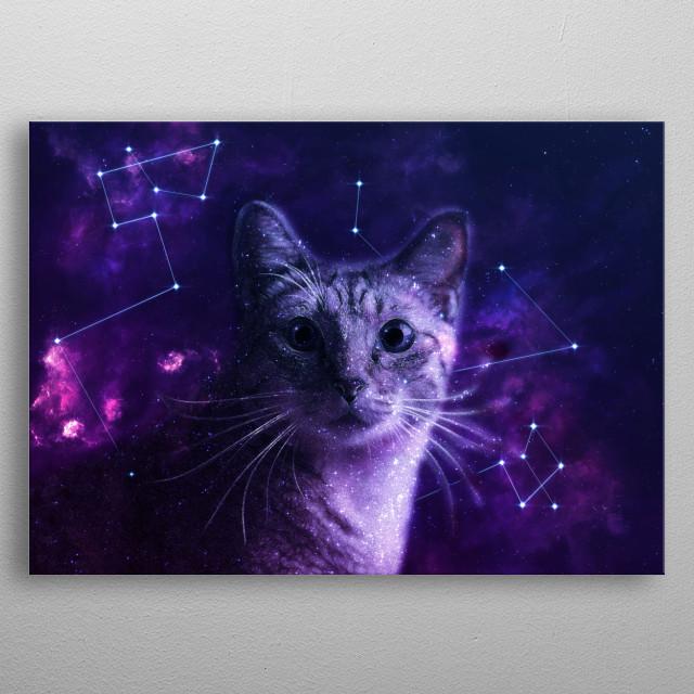Cute Galaxy Cat by Lemo Boy | metal posters - Displate