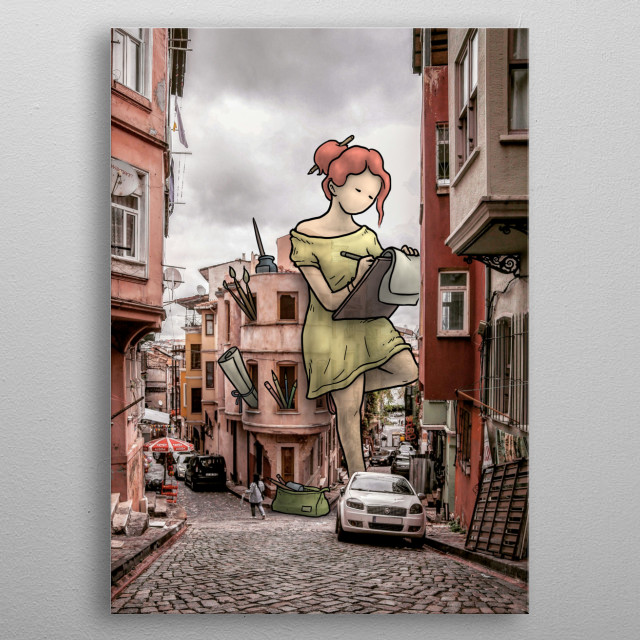 digital photo/illustration metal poster