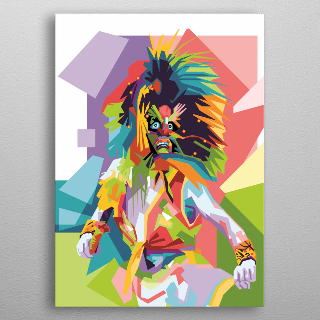 A part of REOG, traditional dance from ponorogo, Indonesia. Bujang Ganong describes the figure of strong-willed, clever, witty and powerful. metal poster