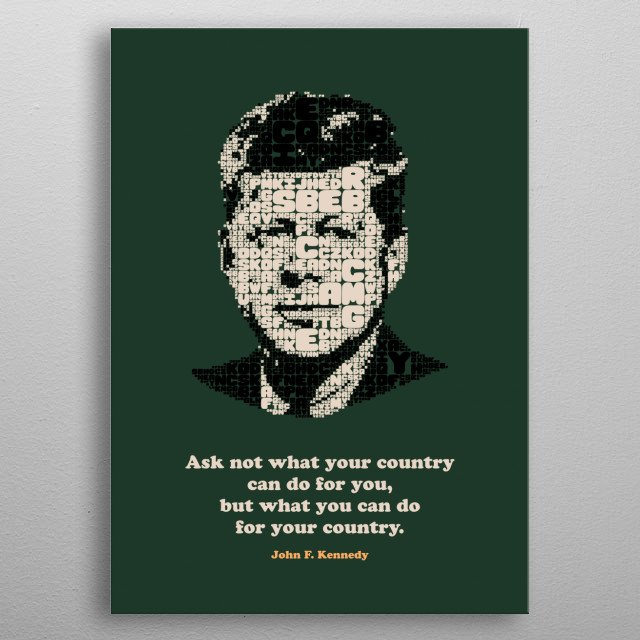 Collection of inspirational and famous quotes by famous people you know and love.  metal poster