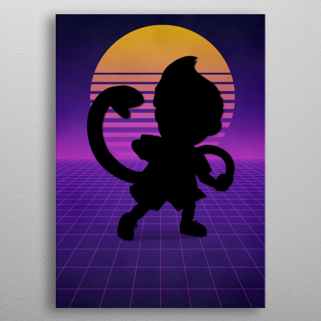 Character artwork inspired by the popular Super Smash Bros. Ultimate video game. metal poster