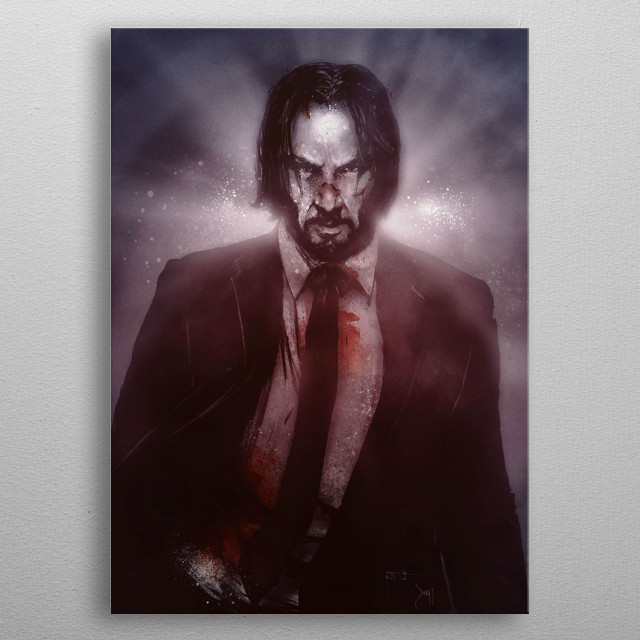 Angry John Wick Design Just For John Wick Lovers. metal poster