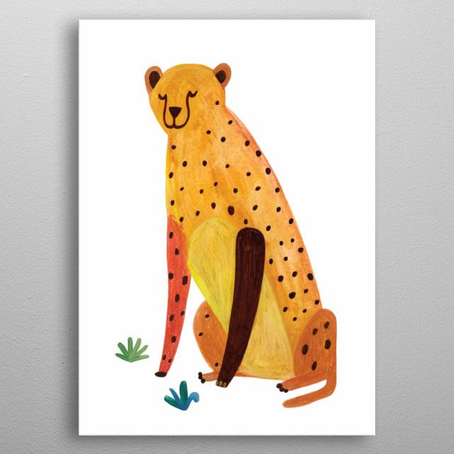 leopard metal poster