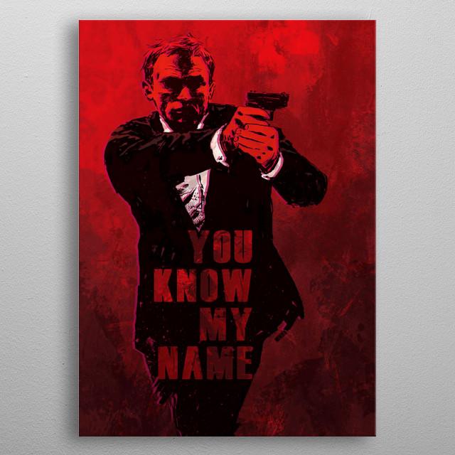 James Bond Design Just For Action Lovers. metal poster