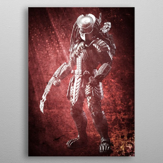 Inspired from The Predator's movie. metal poster