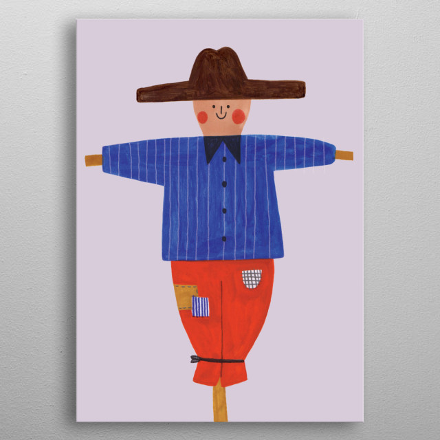 cute scarecrow metal poster