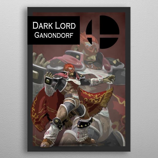 Ganondorf Gaming Poster Print Metal Posters Displate