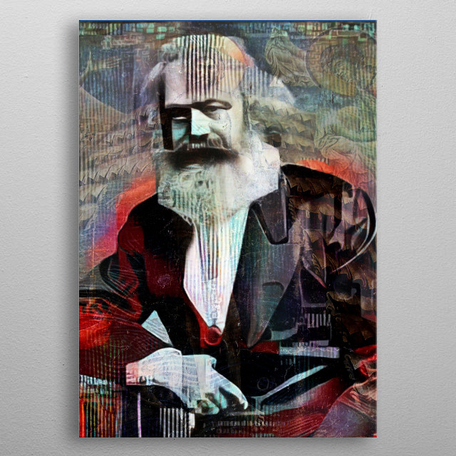 Digital art, considering socialism as a way out... metal poster
