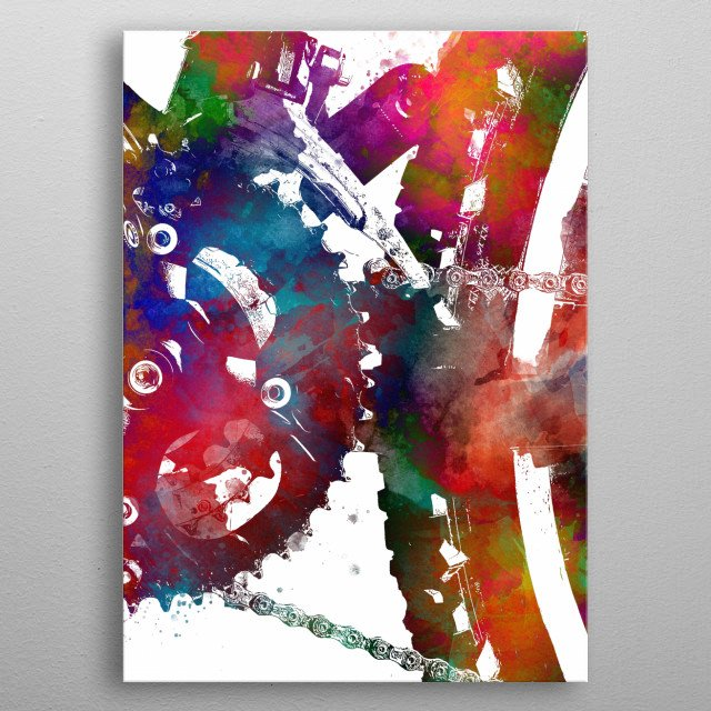 bike art metal poster