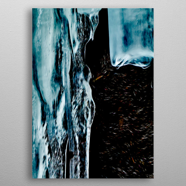 abstract ice background metal poster