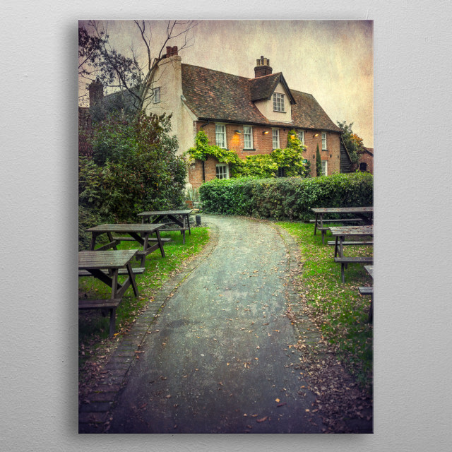 Public house in Suffolk, UK metal poster