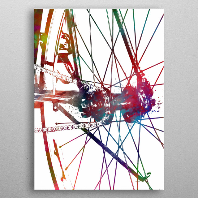 bike art metal poster