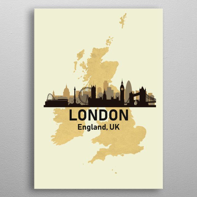 High-quality metal print from amazing Golden Skylines collection will bring unique style to your space and will show off your personality. metal poster