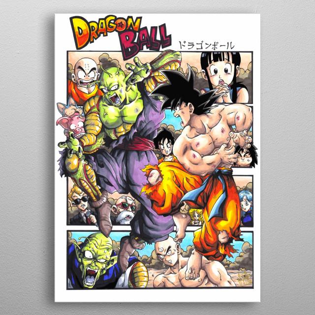 My original art from Piccolo Daimaoh Jr. tournament. metal poster