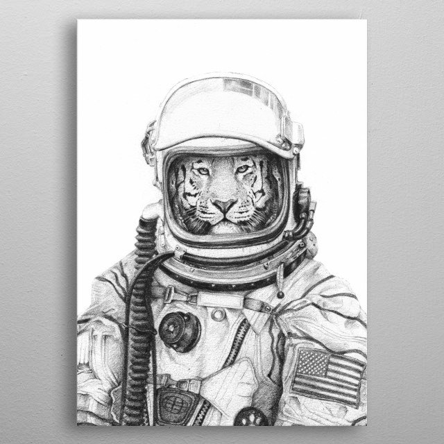Pencil Drawing  metal poster