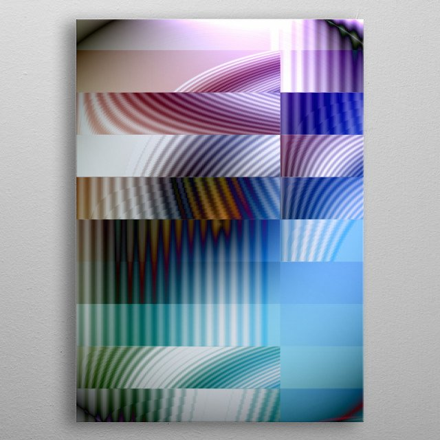 Originally a photo of a cobweb in sunlight, I have digitally manipulated the image to create this aesthetically pleasing artwork in pastel. metal poster