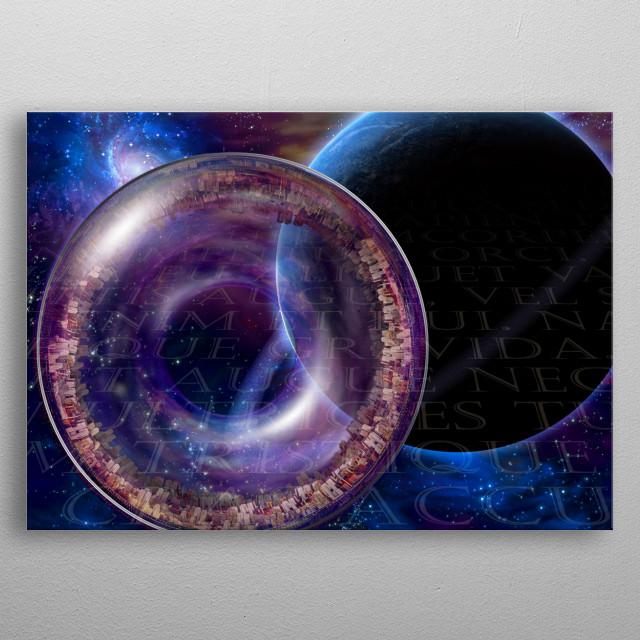 Multi Generational Interstellar Ship metal poster