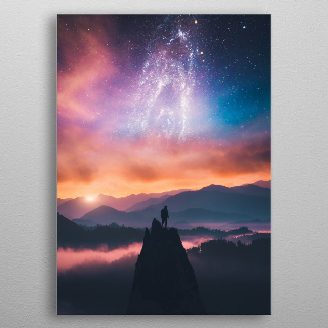Fascinating metal poster designed by SUBLIMENATION . Displate has a unique signature and hologram on the back to add authenticity to each design. metal poster