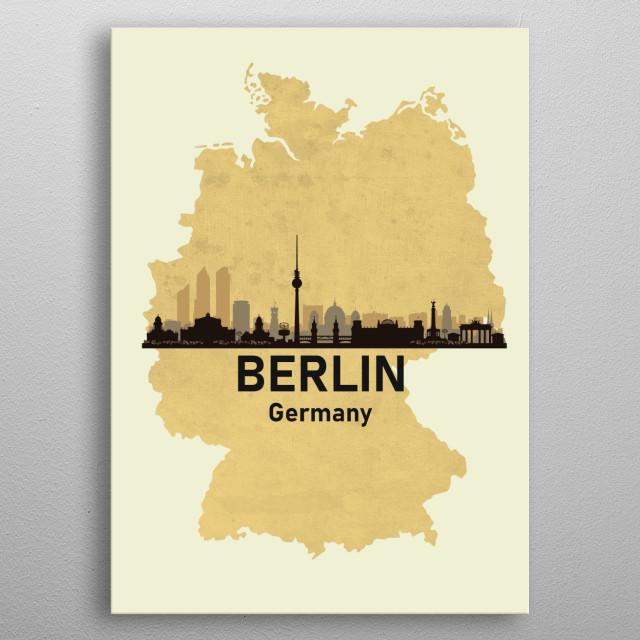 Berlin Germany metal poster