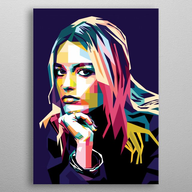 Pop Art of Emma Mackey as Maeve Wiley from Sex Education Netflix Series. metal poster