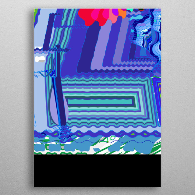 This design is inspired by the nintendo video games of the 90s, it is a digitalization and destruction of the image to build and rebuild .. metal poster