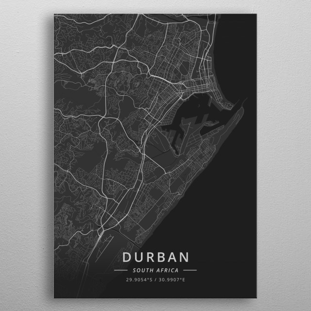 Durban, South Africa metal poster