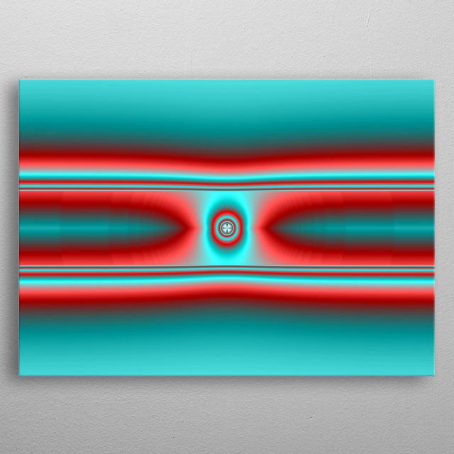 Unusual fractal artwork digitally created. metal poster