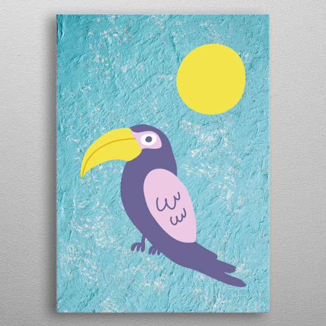 Beautiful collection of minimalist tropical elements , ideal for a sunny and bright house. Holiday House, Beach, Paradise, Summer, 6 of 8 metal poster