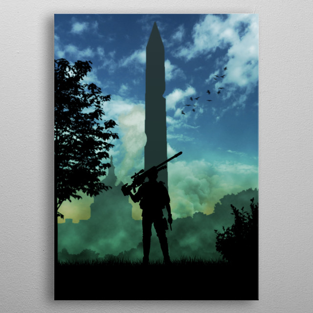 The Division, Washington D.C. metal poster