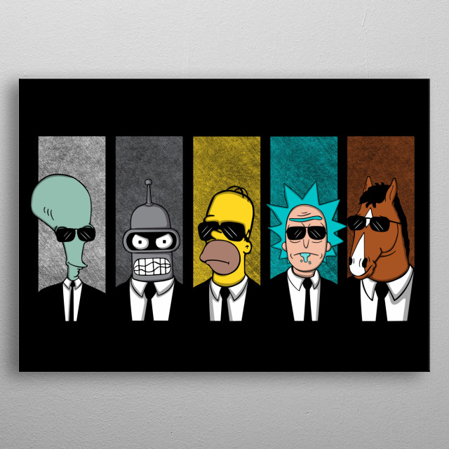 Parody reservoir dogs and drinkers series. metal poster