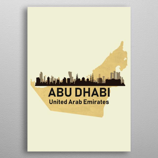 Abu Dhabi United Arab Emirates metal poster