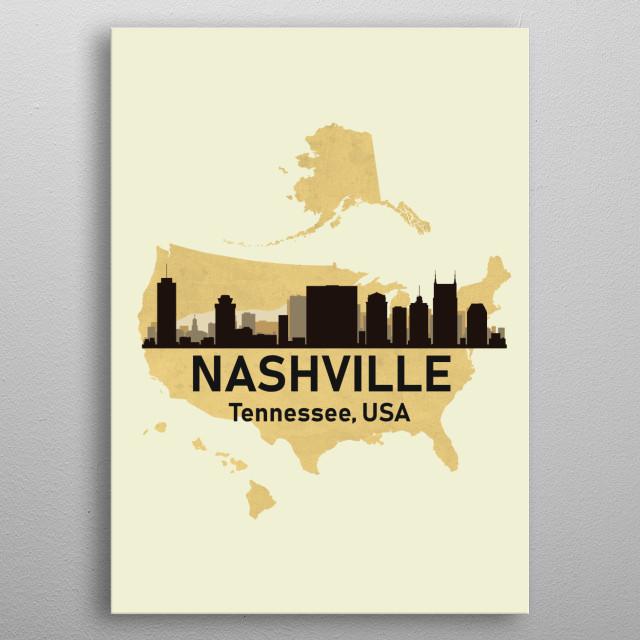 Nashville Tennessee USA metal poster