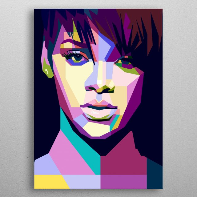 This artwork is inspired by a talented RnB singer in the world. metal poster