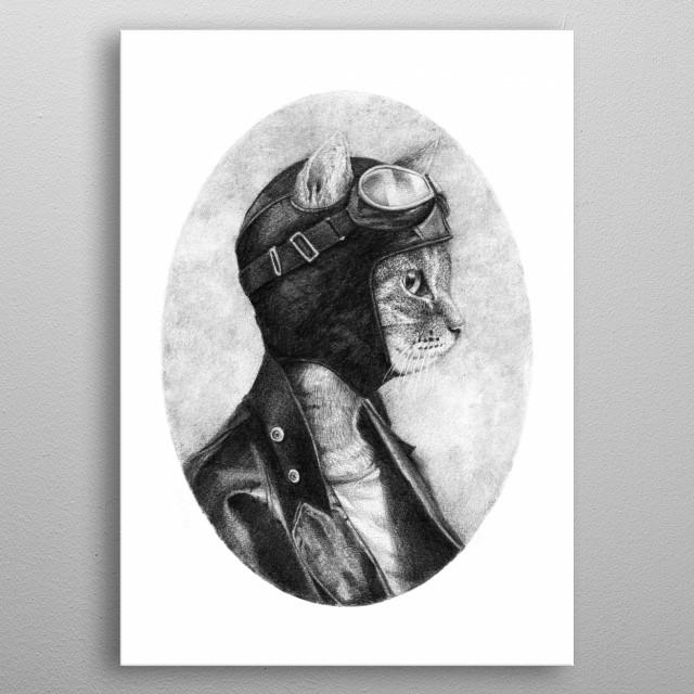 Pencil Drawing metal poster