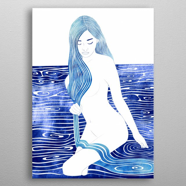 Kranto —  A mythological nereid. One of the daughters of the Nereus, the Old Man of the Sea. metal poster