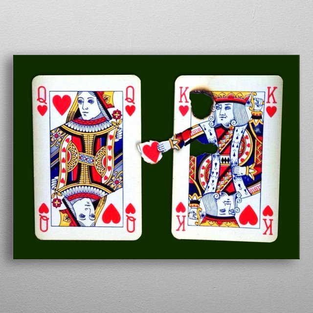 Romantic gift or decoration for every casino or card house.  metal poster