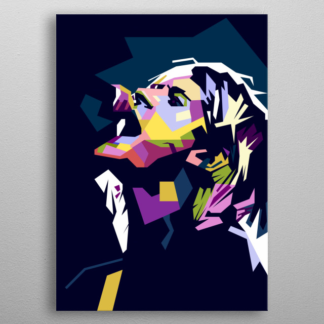 A tribute to Nirvana Vocalist, Kurt Cobain. metal poster