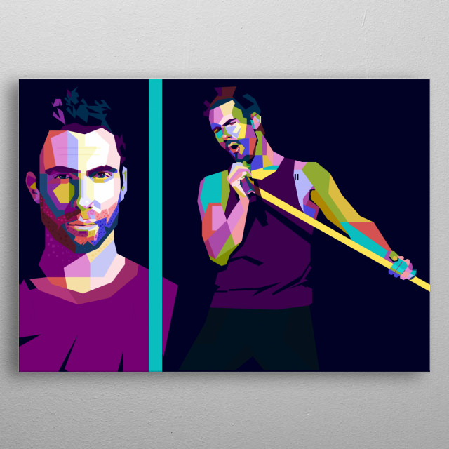 This artwork is inspired by the most talented singer and vocalist in the world, Adam Noah Levine. metal poster