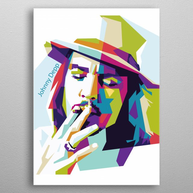 Johnny Depp is an American actor, producer and musician metal poster